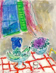 """Marc Chagall - """"Nature morte à la nappe quadrillée"""""""