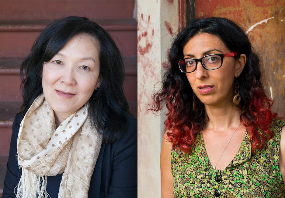Chang photographed by Ayelet Tsabari and Tsabari photographed by Jonathan Bloom